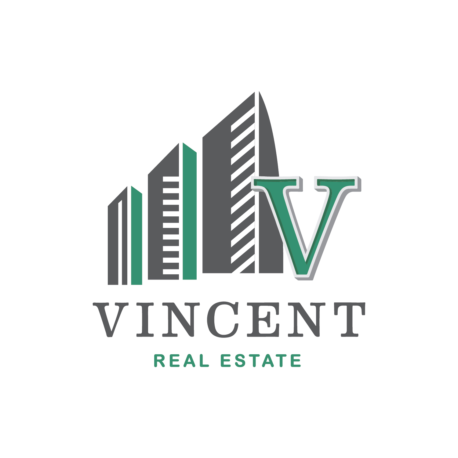Vincent Real Estate Square Logo